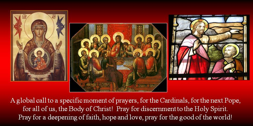 Conclave Prayers -collage by Mich Szek