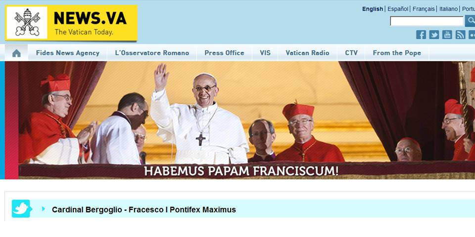 Habemus Papam photo from Vatican News site