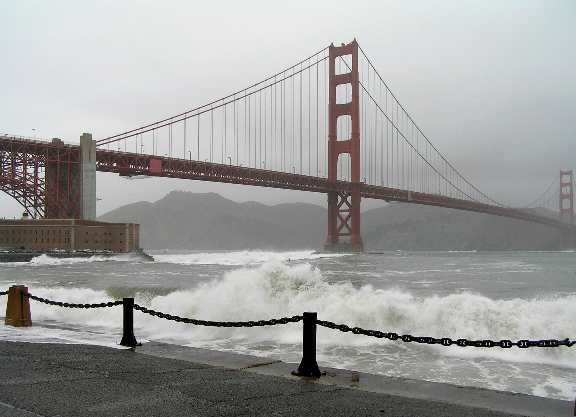 The Golden Gate Bridge in February 2008