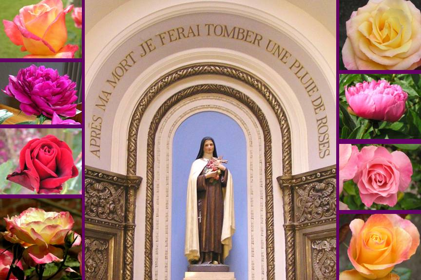 Saint Therese de Lisieux photo collage by Michele Szekely