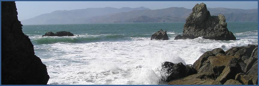 Pacific Waves near Sutro Baths photo by Michele Szekely